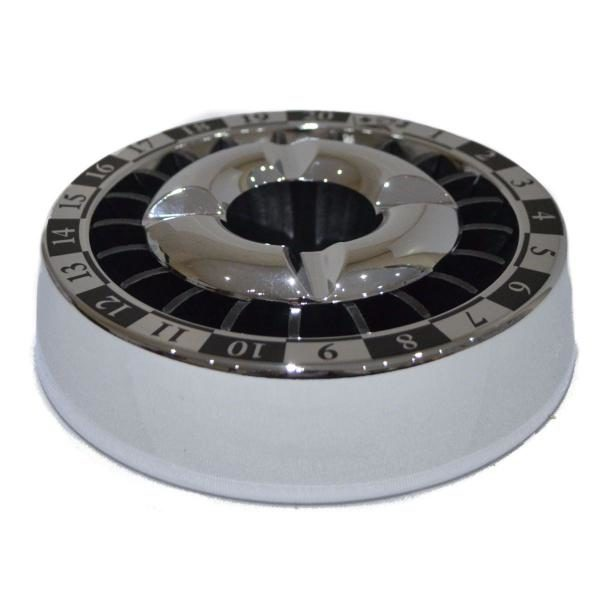 Angelo Roulette Chrome 140mm Snuffer Ashtray Boxed 2