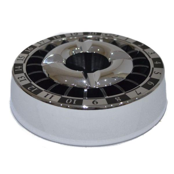 Angelo Roulette Chrome 140mm Snuffer Ashtray Boxed 1