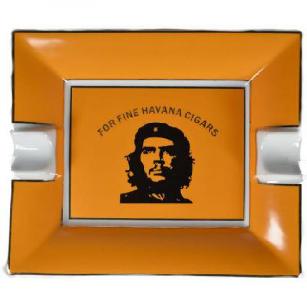 Deep Yellow Che Cigar Ashtray 187mm x 158mm 2 Position Boxed 1