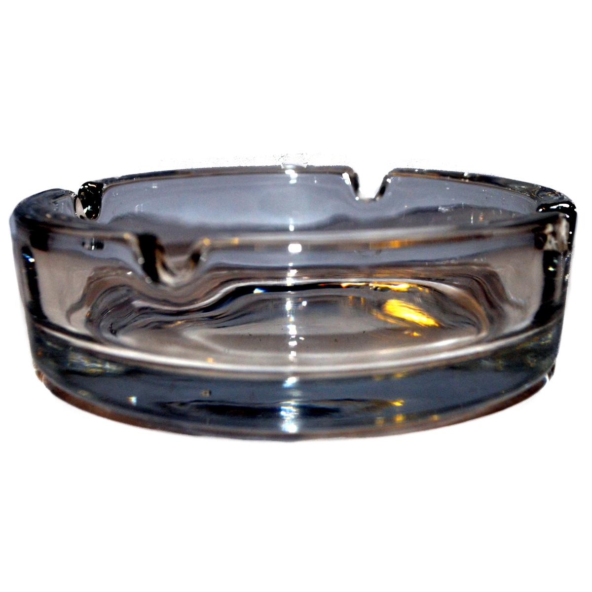 Clear Glass Cigarette Ashtray 4 Posn 105mm Diameter 1