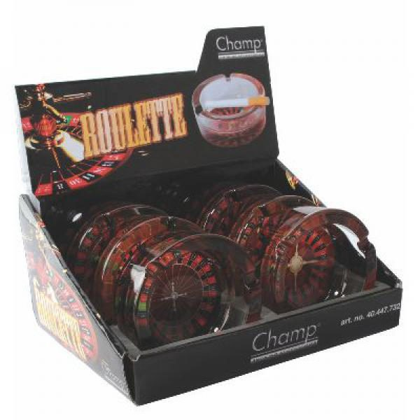 Roulette Glass Ashtray Display 2
