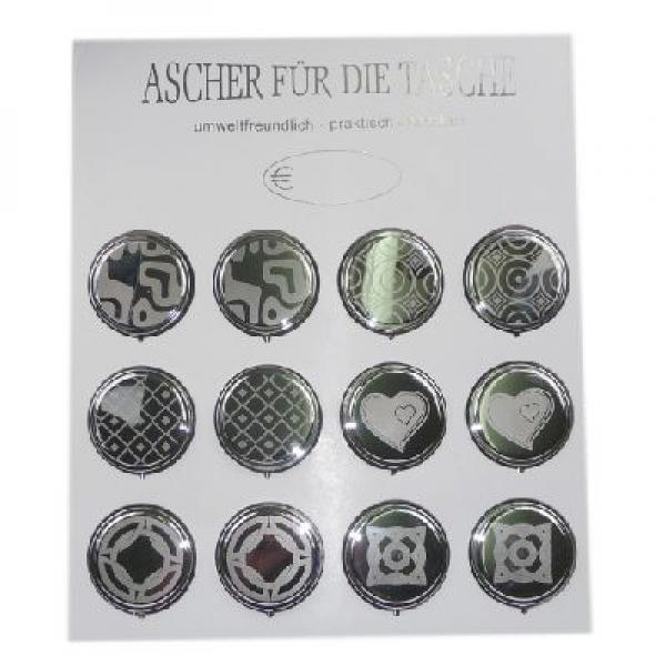 Round Pocket Ashtray Laser Art 1