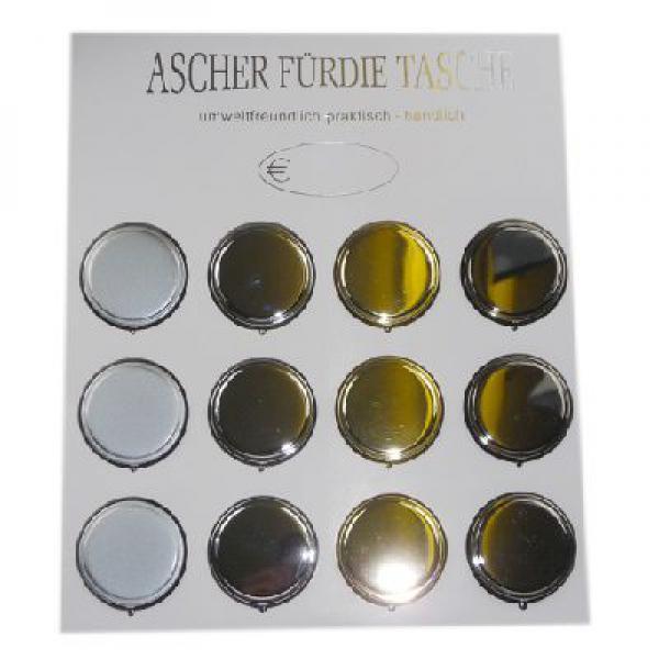 Round Pocket Ashtray Metallics 1