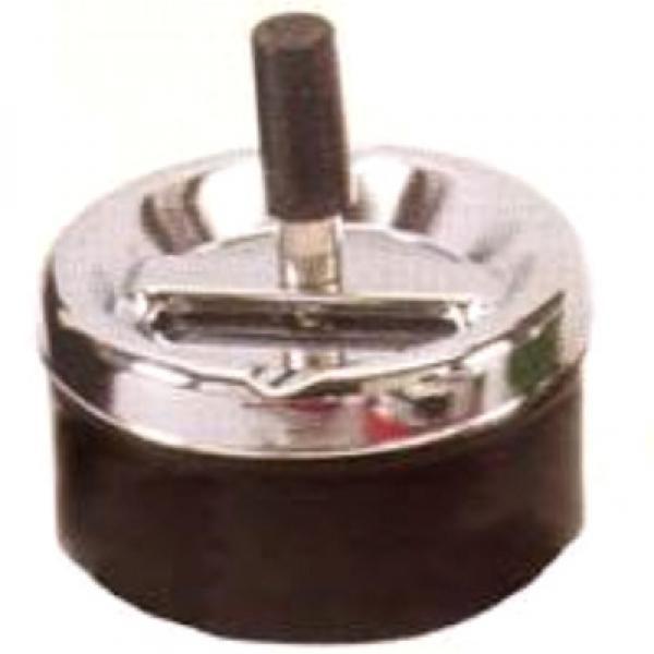 Small Black Spin Ashtray 9.5cm 2