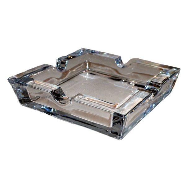 Clear Glass 4 Position Cigar Ashtray Boxed 2