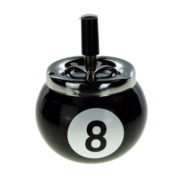 8 Ball Metal Spinning Ashtray Boxed 2
