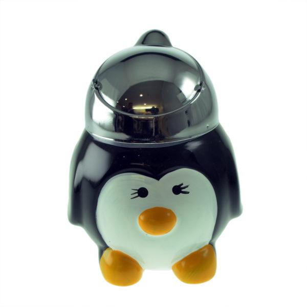 Penguin Ceramic Ashtray With Metal Flip Lid 2