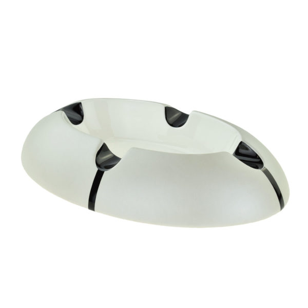 Metallic Pearl Ceramic 4 Position Cigar Ashtray 2